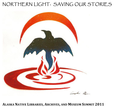 ANLAMS logo - Raven rising from the water.
