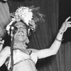 Navy Show (Honky Tonk) at Ft. Mears Theatre. (Carmen Miranda at Mike) August 23, 1943. click here for full image